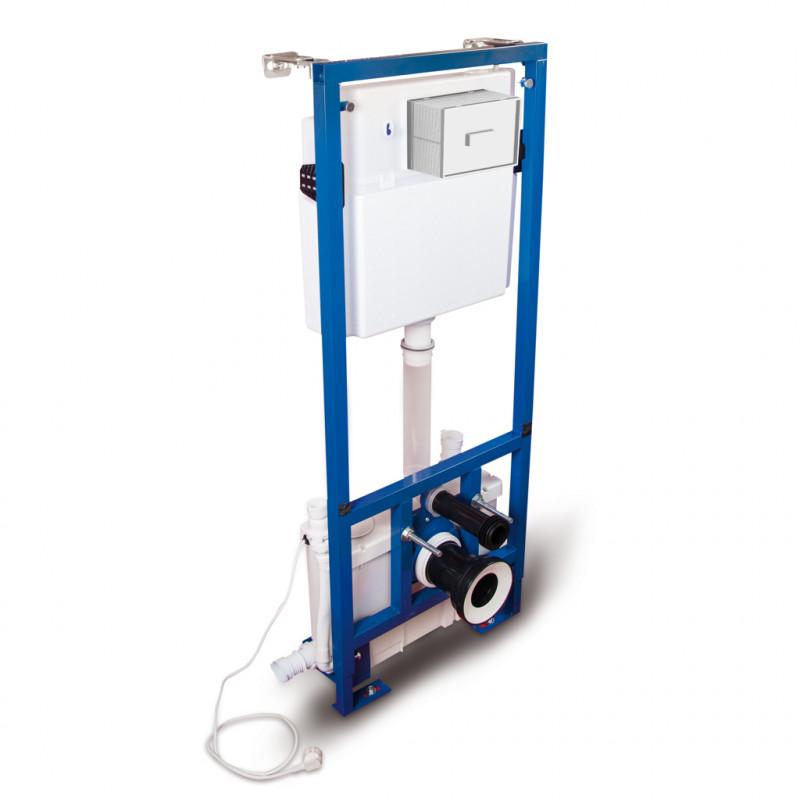 T-604CC - Рама системы инсталляции со встроенным санитарным насосом - измельчителем CICLON CC
