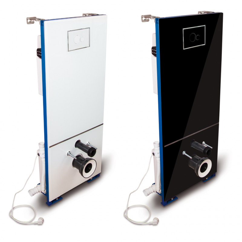 T-604CC - Concealed cistern with glass cover and incorporated sanitary macerator CICLON CC